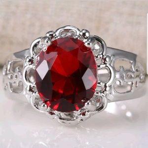 925 Silver ruby Gemstone Jewelry Women Man